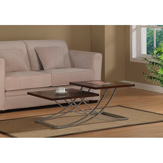 Shop Deville Two Tier Coffee Table – Free Shipping Today – Overstock With Pine Metal Tube Coffee Tables (Image 29 of 40)