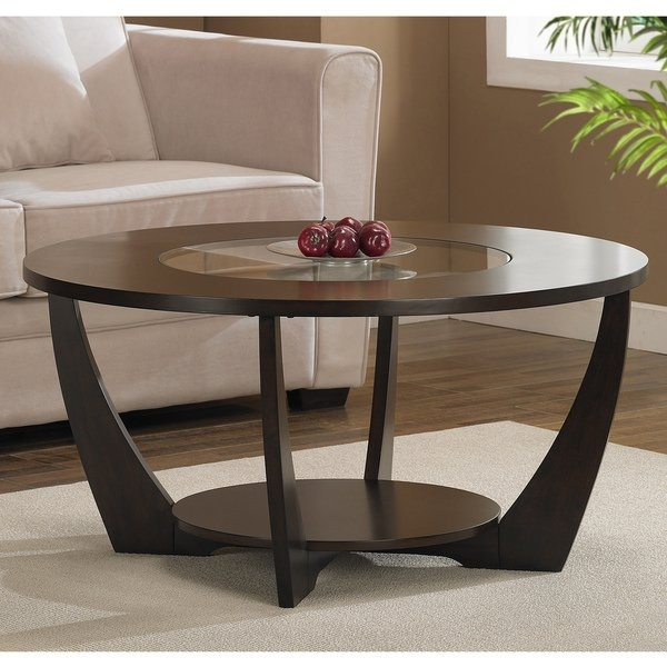 Shop Jasper Laine Archer Espresso Coffee Table With Shelf – Ships To With Regard To Jasper Lift Top Cocktail Tables (Image 32 of 40)