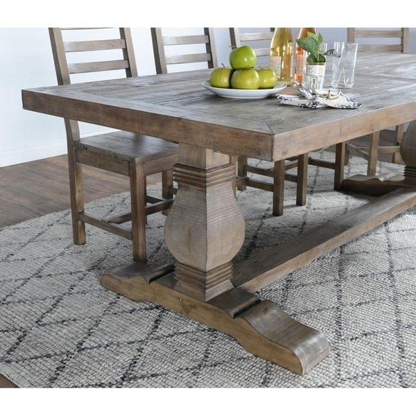 Shop Kasey Reclaimed Wood Desert Grey Dining Tablekosas Home Regarding 33 Inch Industrial Round Tables (View 33 of 40)