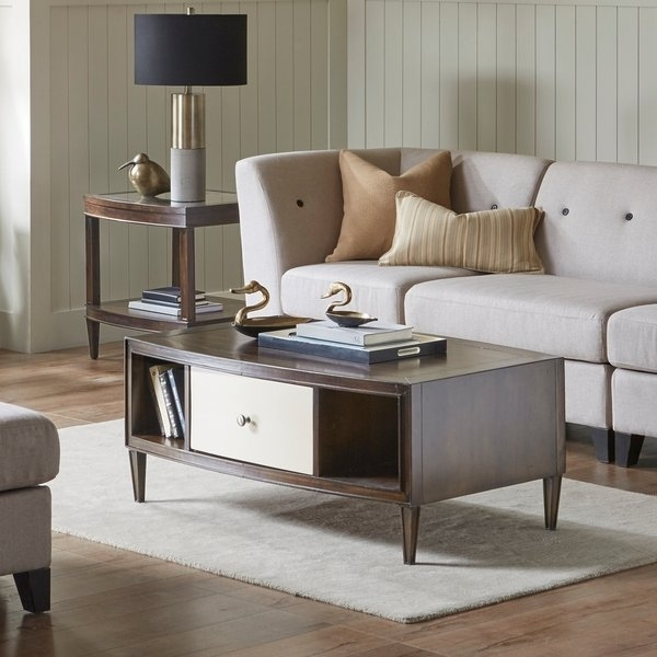 Shop Madison Park Signature Dunkin Morocco Brown/ Ivory Coffee Table For Element Ivory Rectangular Coffee Tables (Image 34 of 40)