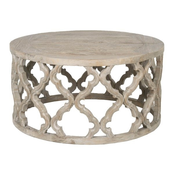 Shop Paige Elm Wood Coffee Table – Free Shipping Today – Overstock Pertaining To Reclaimed Elm Cast Iron Coffee Tables (View 37 of 40)