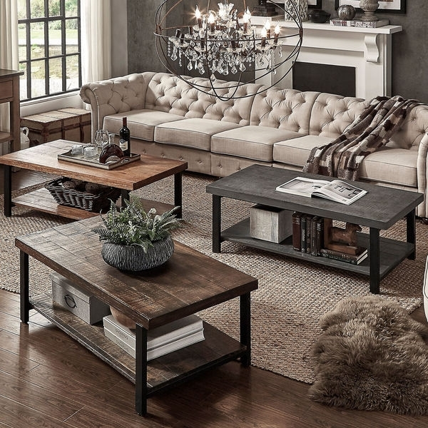Shop Pine Canopy Caladium Reclaimed Rectangular Coffee Table – On Pertaining To Reclaimed Pine & Iron Coffee Tables (View 16 of 40)