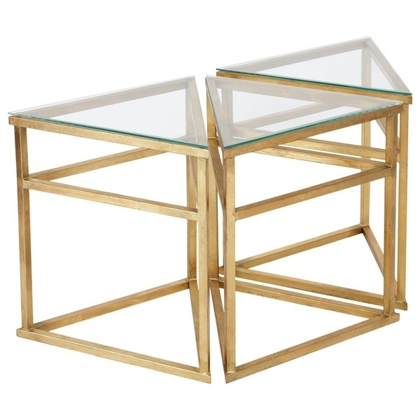 Shop Safavieh Couture High Line Collection Caliope Gold Leaf Throughout Gold Leaf Collection Coffee Tables (View 15 of 40)