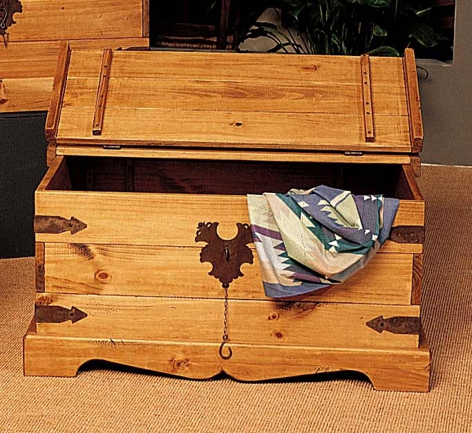 Shop Santa Fe Large Pine Storage Coffee Table – Free Shipping Today For Santa Fe Coffee Tables (View 14 of 40)
