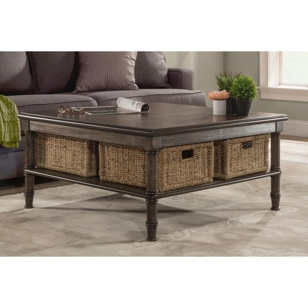 Shop Seneca Coffee Table – 4 Baskets Included – Free Shipping Today In Seneca Lift Top Cocktail Tables (View 3 of 40)