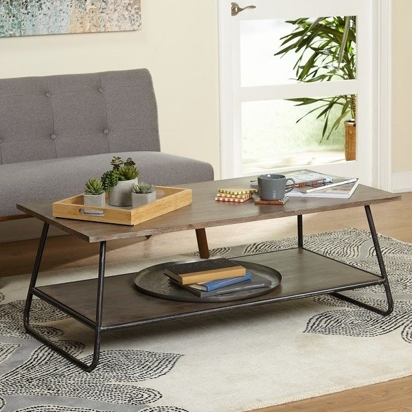 Shop Simple Living Mid Century Francisky Coffee Table – Free Inside Elba Cocktail Tables (View 30 of 40)