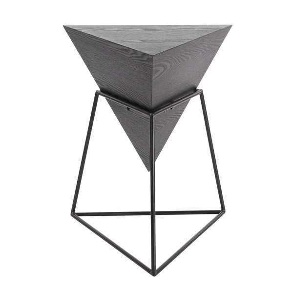 Shop Studio 350 Wood Metal Triangle Table 20 Inches Wide, 24 Inches Pertaining To Inverted Triangle Coffee Tables (View 5 of 40)
