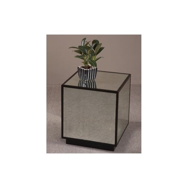 Shop Uttermost 24091 Mirrored Cube From The Matty Collection – Aged In Aged Iron Cube Tables (Image 32 of 40)