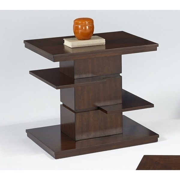 Shop Waterfall Rectangular End Table – Free Shipping Today With Square Waterfall Coffee Tables (Image 28 of 40)