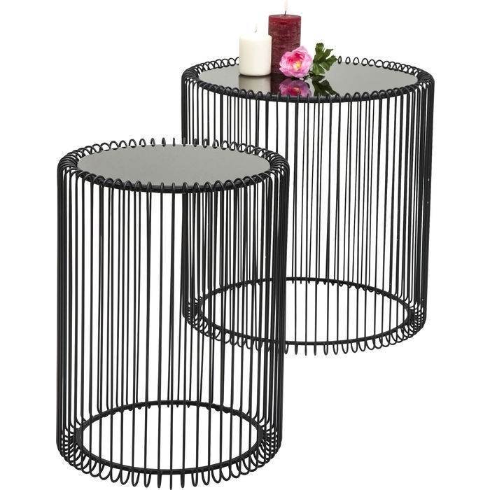 Side Table Wire Black (2/set) – Kare Design With Black Wire Coffee Tables (View 37 of 40)