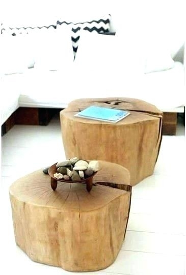 Side Tables ~ Tree Stump Side Table Trunk Console Wood End Fresh In Fresh Cut Side Tables (Image 31 of 40)