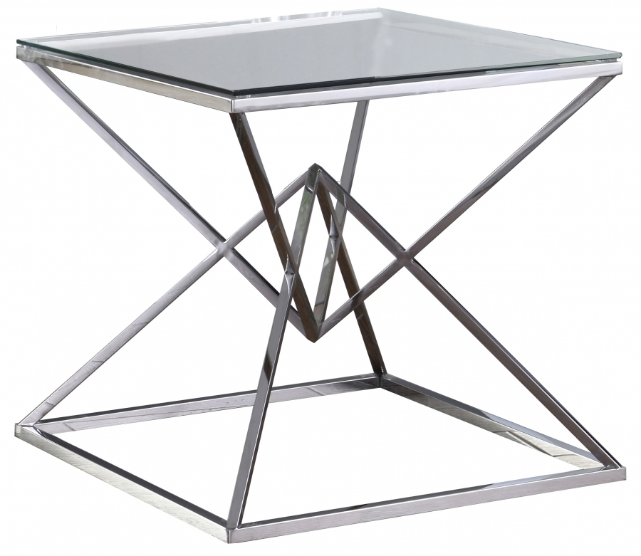 Silver Vanessa End Table | 233 E With Inverted Triangle Coffee Tables (View 39 of 40)