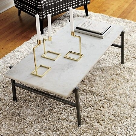 Slab Small Marble Coffee Table With Antiqued Silver Base | Playrooms Throughout Slab Small Marble Coffee Tables With Antiqued Silver Base (Image 30 of 40)
