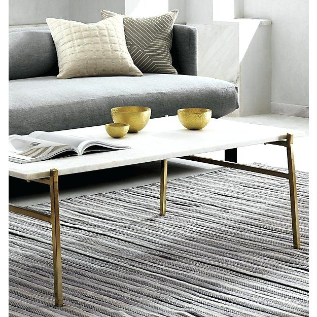 Slab Small Marble Coffee Table With Brass Base Cb2 – Bclaysonline (Image 32 of 40)