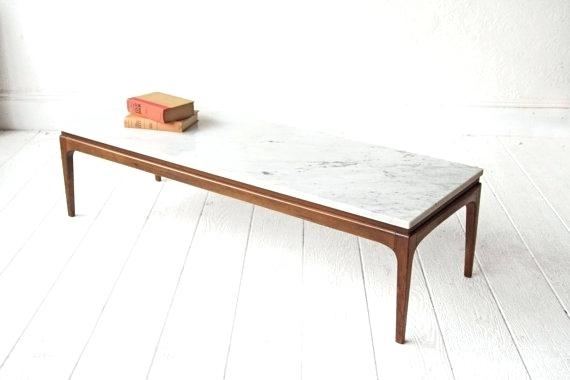 Small Mid Century Coffee Table The Most Attractive Marble Coffee Inside Mid Century Modern Marble Coffee Tables (Image 37 of 40)