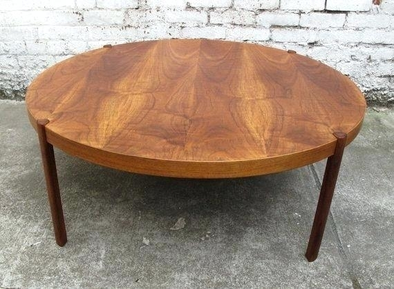 Small Teak Coffee Table Gorgeous Large Round Coffee Tables With Intended For Round Teak Coffee Tables (Image 31 of 40)