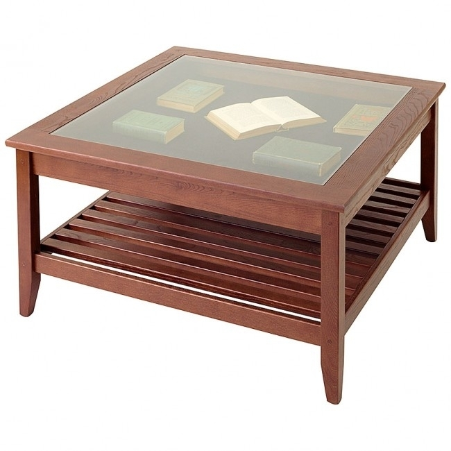 Smart Glass Top Display Coffee Table Square Manchester Wood, Glass In Smart Glass Top Coffee Tables (View 29 of 40)