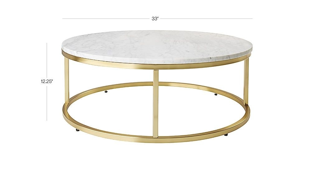 Smart Round Marble Brass Coffee Table | A – Nother Remodel Inside Smart Round Marble Brass Coffee Tables (Image 36 of 40)