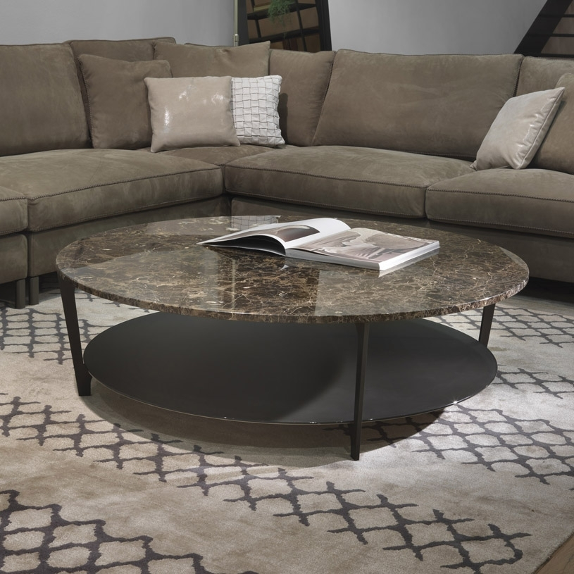 Soho Round Marble Coffee Table & Glass Pertaining To Marble Coffee Tables (Image 33 of 40)