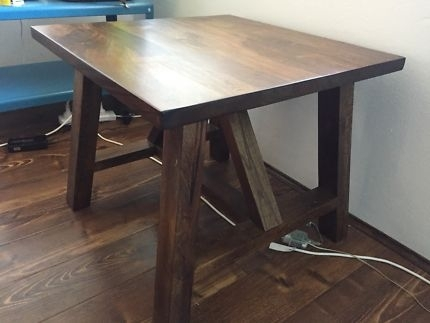 Solid Hardwood Box Cube | Buffets & Side Tables | Gumtree Australia Pertaining To Aged Iron Cube Tables (Image 33 of 40)