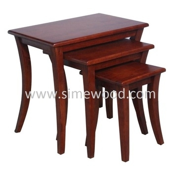 Solid Wood Nesting Tables Set,coffee Tables,side Tables – Buy Rubber Inside Set Of Nesting Coffee Tables (View 22 of 40)