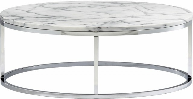 Spacesaving Marble Topped Pedestal Coffee Table White Marbleantique Regarding Smart Round Marble Brass Coffee Tables (Image 39 of 40)