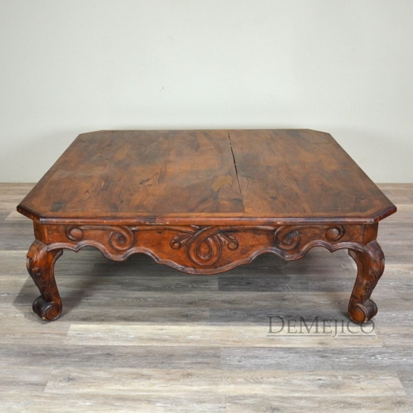 Spanish Colonial Coffee Table, Mesa De Centro Conquista – Demejico Inside Spanish Coffee Tables (View 12 of 40)