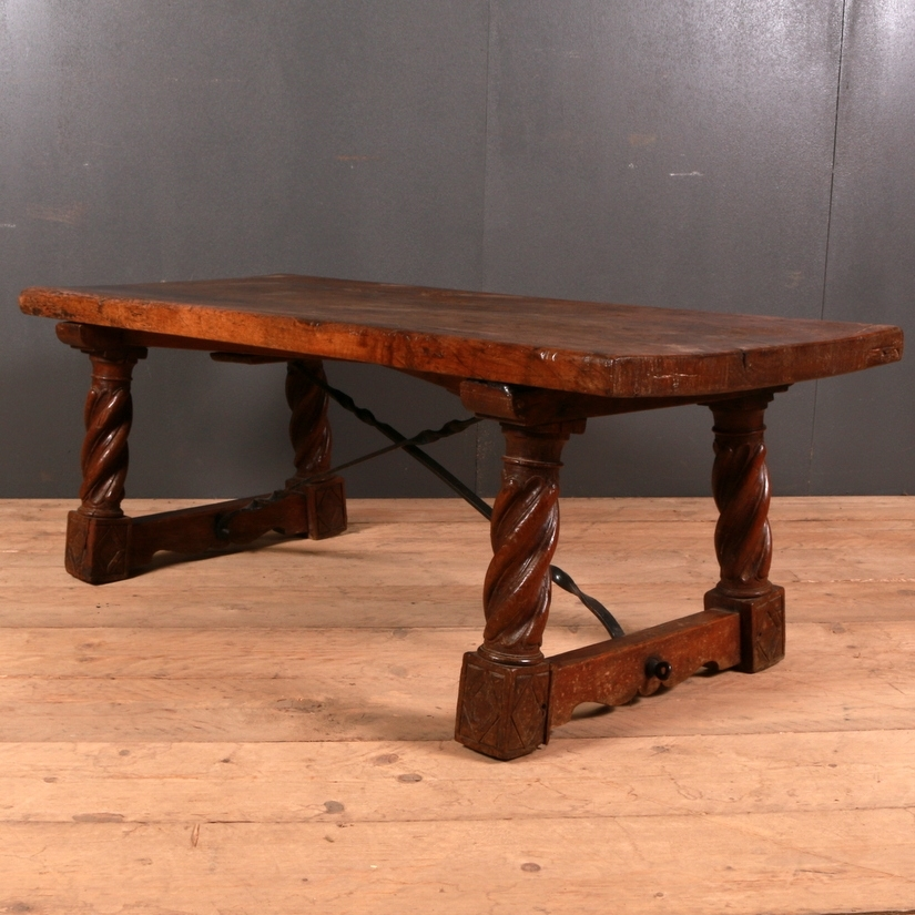 Spanish Walnut Coffee Table – Antique Coffee Tables – Antique Tables Inside Spanish Coffee Tables (View 39 of 40)