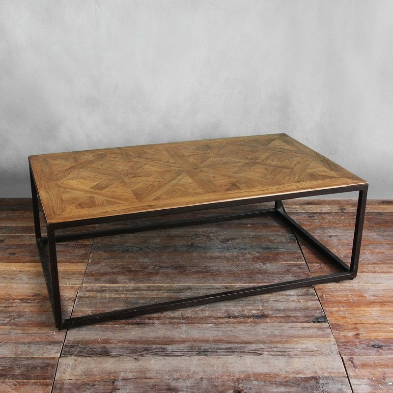 Spot 85 Discount Living Room Furniture Industrialism Iron Loft Wind Inside Parquet Coffee Tables (Image 38 of 40)