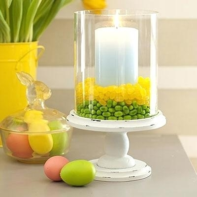 Spring Table Centerpieces Jelly Bean Filled Hurricane Via All You Regarding Jelly Bean Coffee Tables (View 20 of 40)