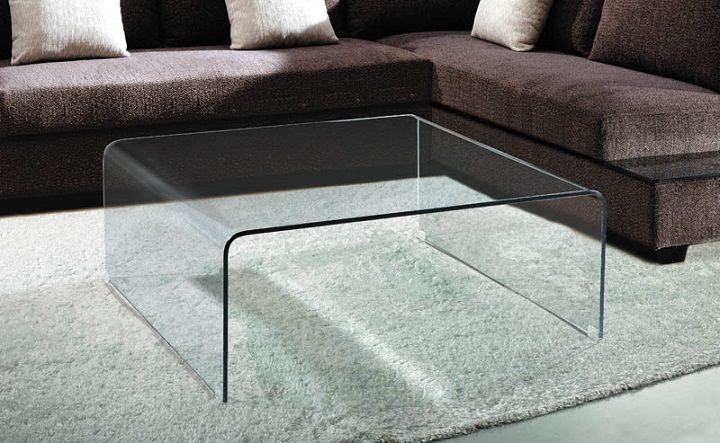 Square Bent Glass Waterfall Coffee Table | For The Home | Pinterest Pertaining To Square Waterfall Coffee Tables (View 2 of 40)