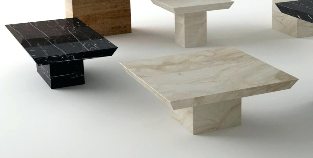 Square Faux Marble Coffee Tables Contemporary Table– D Carly Regarding Marble Coffee Tables (Image 34 of 40)