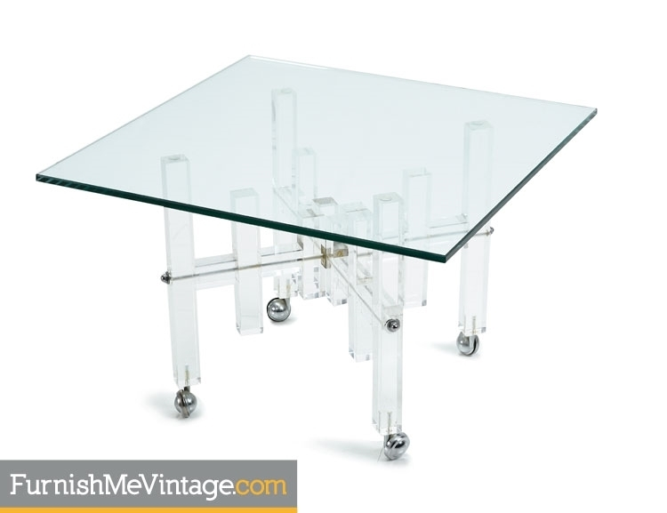 Square Lucite Coffee Table In Stately Acrylic Coffee Tables (View 37 of 40)