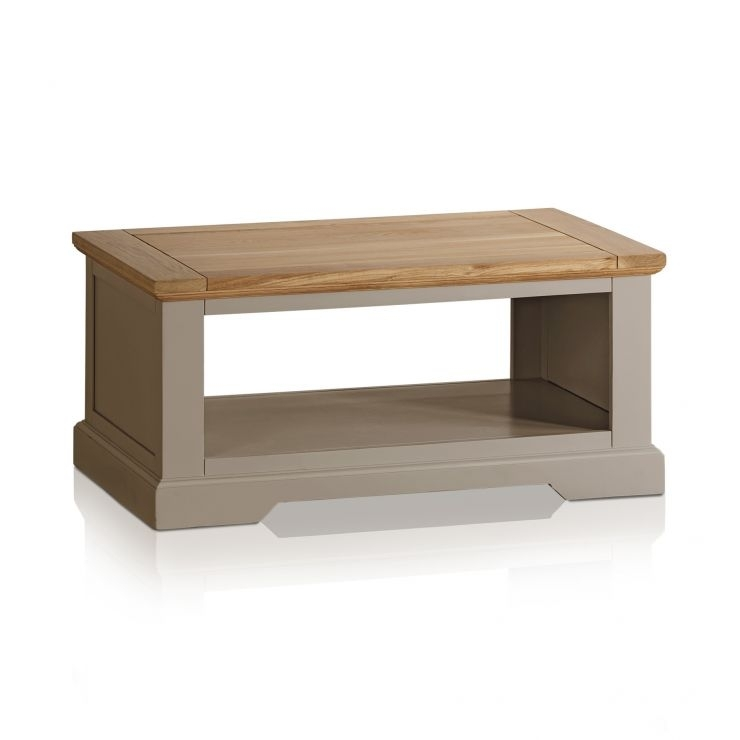 St Ives Grey Coffee Table With Brushed Oak Top Inside Light Natural Coffee Tables (View 27 of 40)