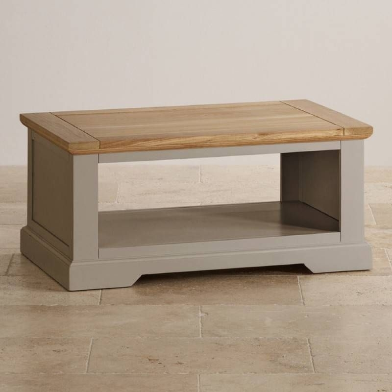 St Ives Natural Oak And Light Grey Painted Coffee Table | St Ives Inside Light Natural Coffee Tables (View 10 of 40)