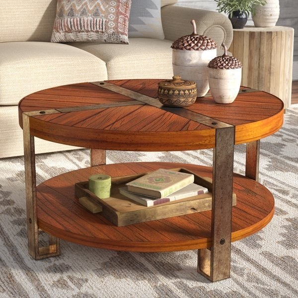 Stone Top Round Coffee Table | Wayfair For Recycled Pine Stone Side Tables (View 16 of 40)