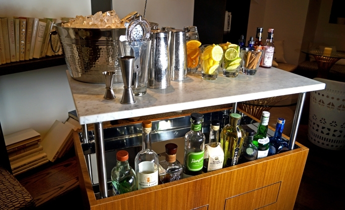 Stratus Lounge's New Tableside Cocktail Service Hydraulic Carts Are Pertaining To Stratus Cocktail Tables (View 34 of 35)