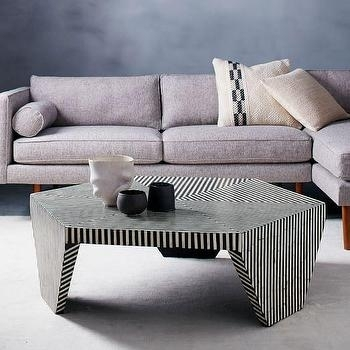 Striped Hexagon Coffee Table – Products, Bookmarks, Design Intended For Geo Faceted Coffee Tables (Image 29 of 31)
