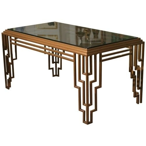 Stunning Art Deco Coffee Table And Art Deco Side Table With Glass Inside Antiqued Art Deco Coffee Tables (Image 37 of 40)