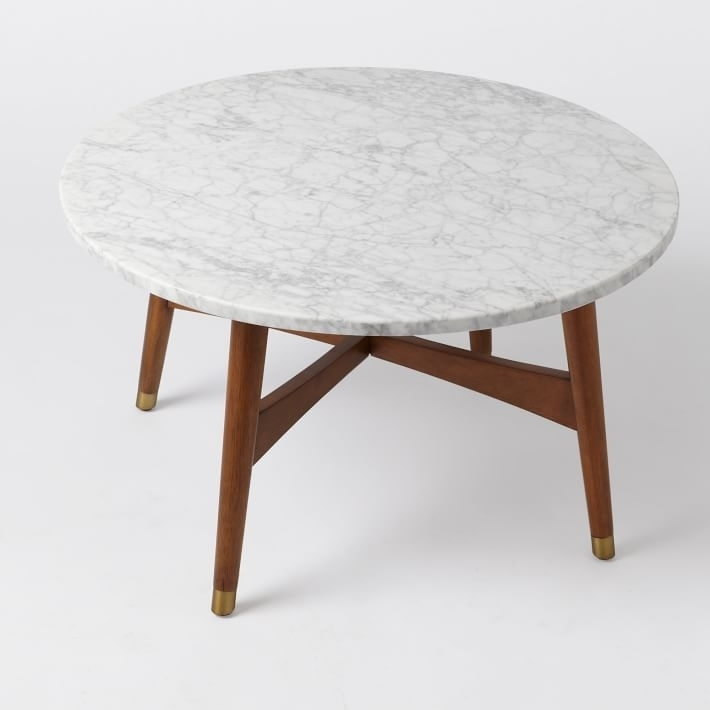 Stunning Reeve Mid Century Coffee Table Marble West Elm, Mid Century Intended For Mid Century Modern Marble Coffee Tables (Image 39 of 40)