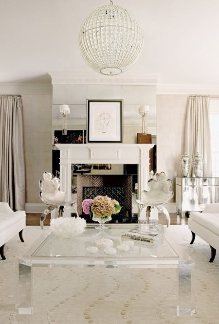Stunning Stately White Living Room | Piano Room | Pinterest | Living For Stately Acrylic Coffee Tables (View 11 of 40)