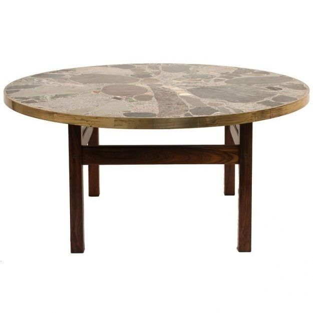 Stylish Round Stone Coffee Table With Round Stone Top Coffee Table Regarding Stone Top Coffee Tables (Image 34 of 40)