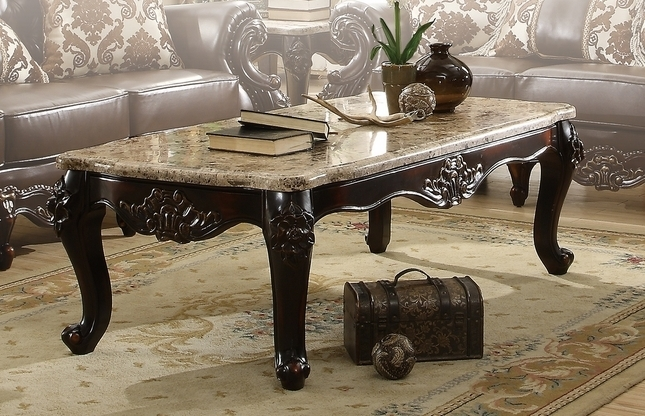 Stylish Traditional Coffee Table With Dark Brown Traditional Coffee With Traditional Coffee Tables (View 8 of 40)