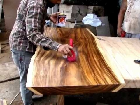 Suar Live Edge Wood Coffee Table – Youtube With Regard To Live Edge Teak Coffee Tables (View 34 of 40)