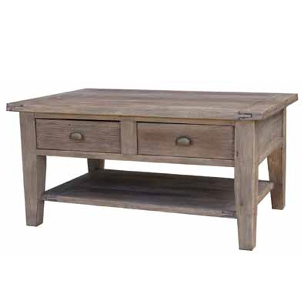 Sundried Reclaimed Pine Coffee Table | Buy Wooden Coffee Tables In Reclaimed Pine Coffee Tables (View 15 of 40)