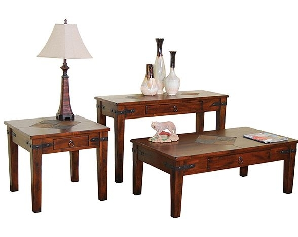 Sunny Designs Santa Fe Coffee Table Set Su 3160Dc Set With Santa Fe Coffee Tables (View 34 of 40)