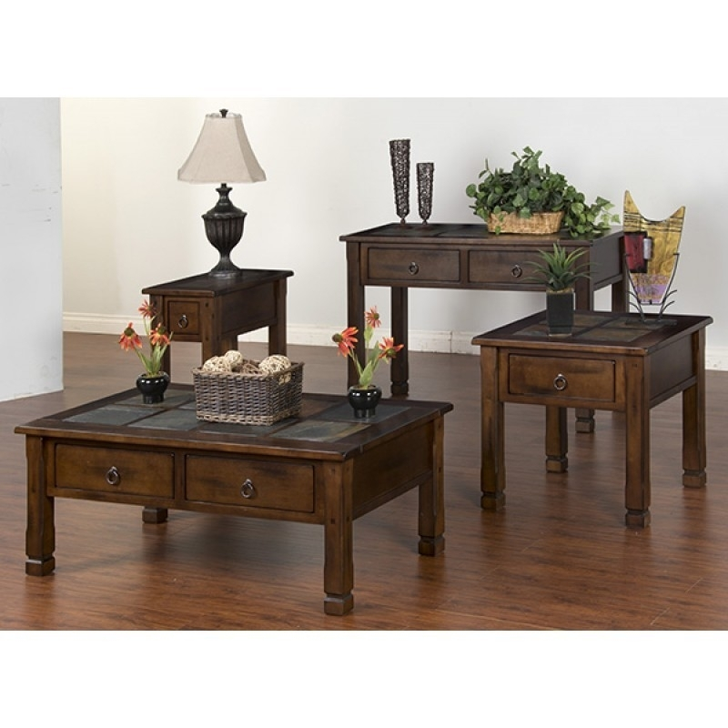 Sunny Designs Santa Fe Coffee Table, Slate Top | 3143Dc | Tables Within Santa Fe Coffee Tables (View 32 of 40)