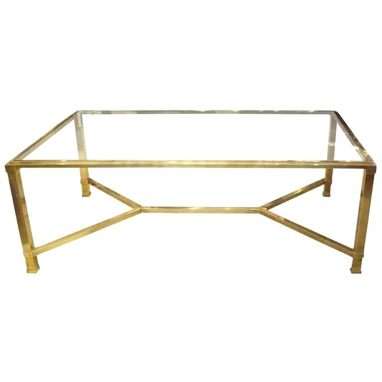 Table: Antique Brass Glass Coffee Table Vintage French And Top With Antique Brass Coffee Tables (View 24 of 40)