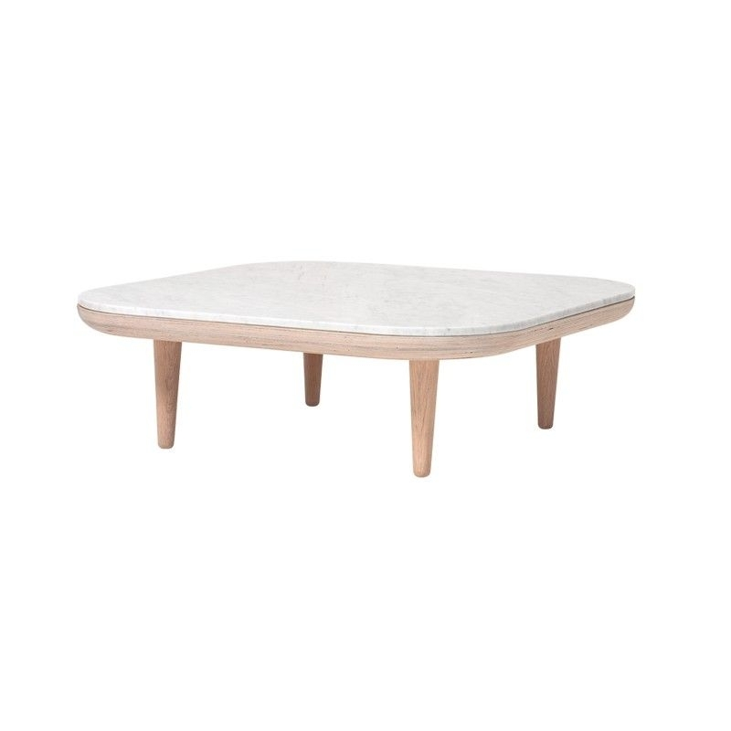 Table Basse Fly Carree Marbre Sc4 – And Tradition | >>> Tables Pertaining To Suspend Ii Marble And Wood Coffee Tables (View 27 of 40)