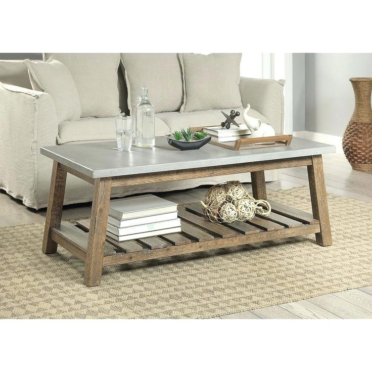 Table: Best Of Concrete Side Table With Coffee Ideas On Outdoor Regarding Santa Fe Coffee Tables (Photo 21 of 40)